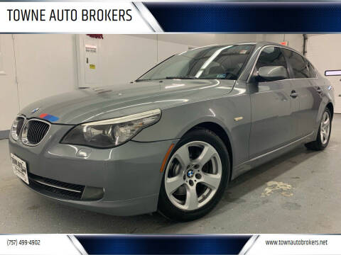 2008 BMW 5 Series for sale at TOWNE AUTO BROKERS in Virginia Beach VA