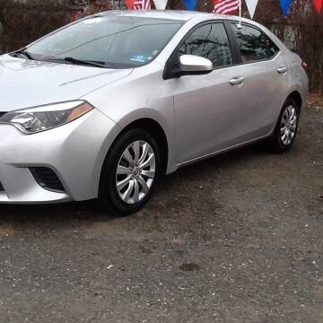 2015 Toyota Corolla for sale at Lance Motors in Monroe Township NJ