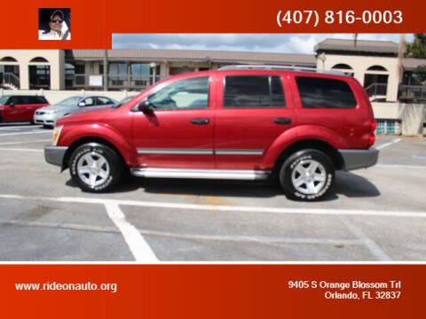 2006 Dodge Durango for sale at Ride On Auto in Orlando FL