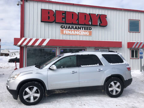2012 GMC Acadia for sale at Berry's Cherries Auto in Billings MT