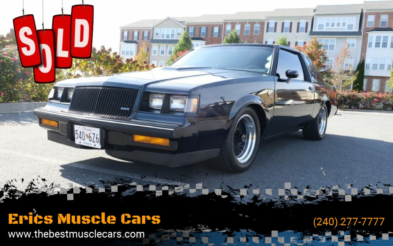 1987 Buick Grand National SOLD SOLD SOLD