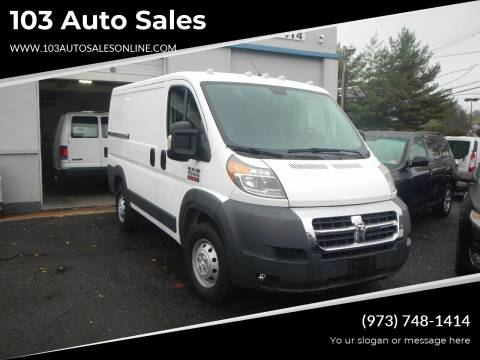 2017 RAM ProMaster Cargo for sale at 103 Auto Sales in Bloomfield NJ