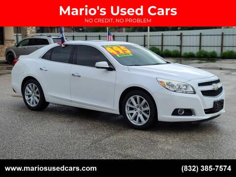 2013 Chevrolet Malibu for sale at Mario's Used Cars - Pasadena Location in Pasadena TX