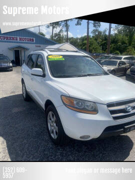 2009 Hyundai Santa Fe for sale at Supreme Motors in Tavares FL