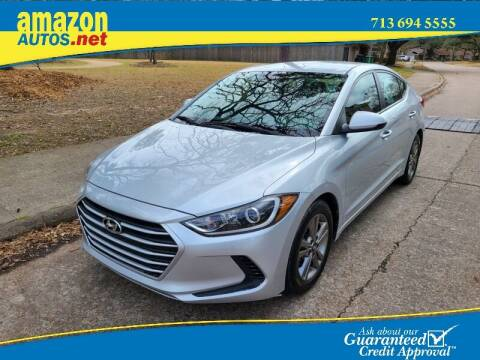 2018 Hyundai Elantra for sale at Amazon Autos in Houston TX