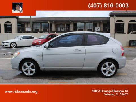 2009 Hyundai Accent for sale at Ride On Auto in Orlando FL