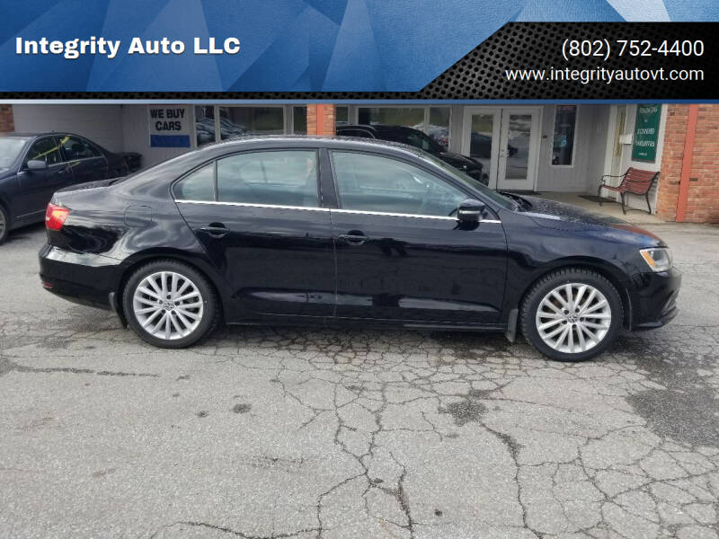 2015 Volkswagen Jetta for sale at Integrity Auto LLC - Integrity Auto 2.0 in St. Albans VT