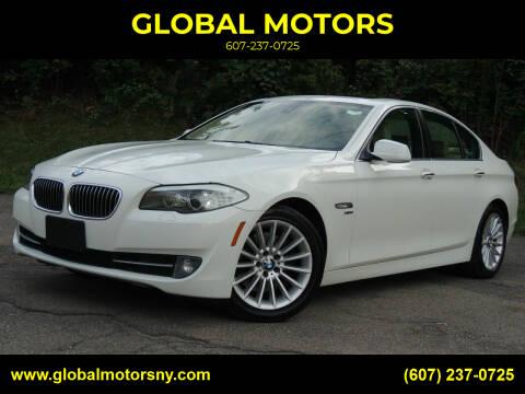 2011 BMW 5 Series for sale at GLOBAL MOTORS in Binghamton NY