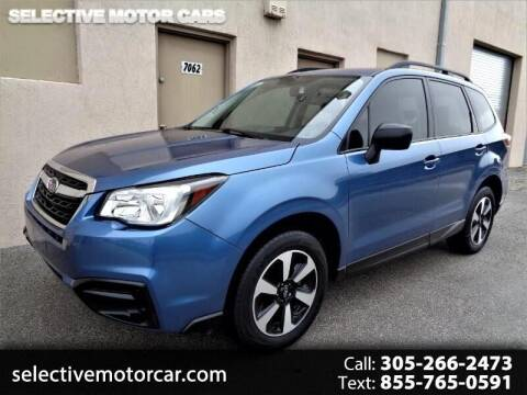 2017 Subaru Forester for sale at Selective Motor Cars in Miami FL