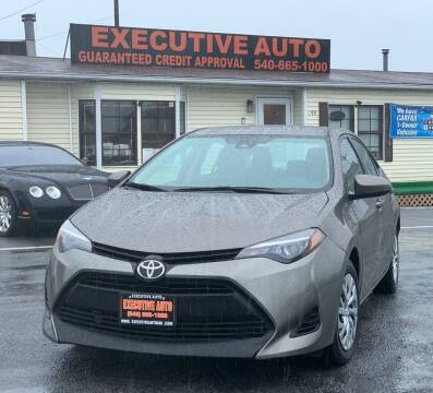 2017 Toyota Corolla for sale at Executive Auto in Winchester VA