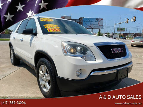 2009 GMC Acadia for sale at A & D Auto Sales in Joplin MO