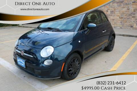 2015 FIAT 500 for sale at Direct One Auto in Houston TX