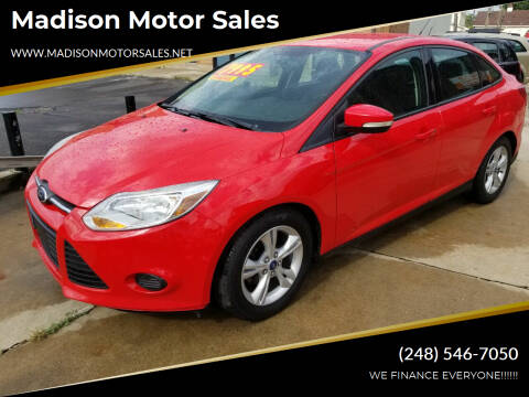 2014 Ford Focus for sale at Madison Motor Sales in Madison Heights MI