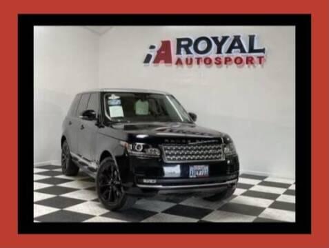 2014 Land Rover Range Rover for sale at Royal AutoSport in Sacramento CA