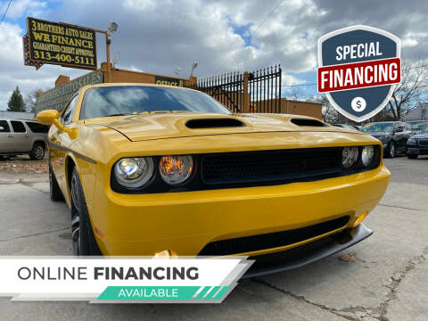 2012 Dodge Challenger for sale at 3 Brothers Auto Sales Inc in Detroit MI