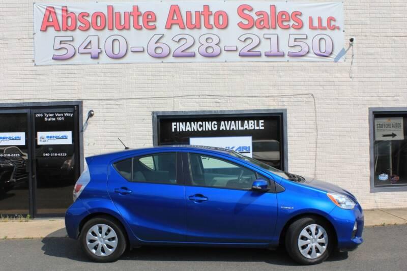 2014 Toyota Prius c for sale at Absolute Auto Sales in Fredericksburg VA