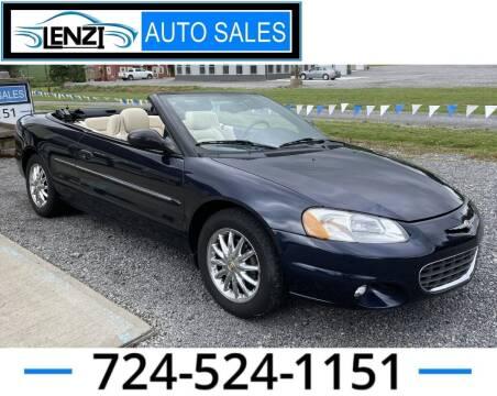 2001 Chrysler Sebring for sale at LENZI AUTO SALES in Sarver PA