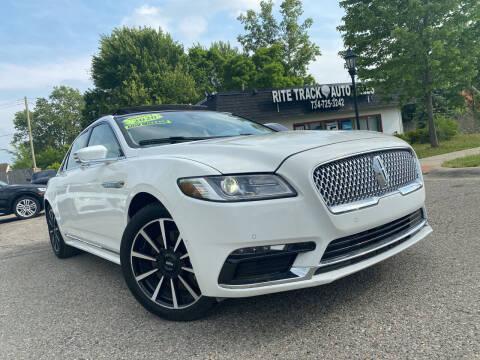 2020 Lincoln Continental for sale at Rite Track Auto Sales in Canton MI