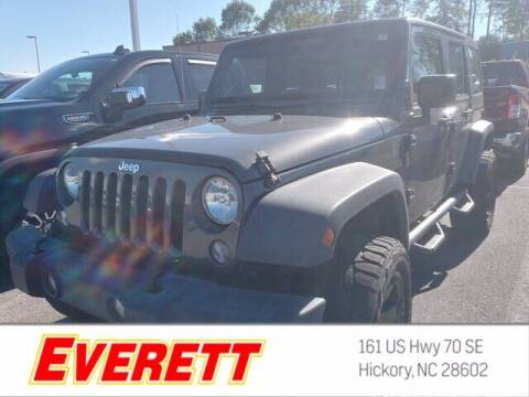 2018 Jeep Wrangler JK Unlimited for sale at Everett Chevrolet Buick GMC in Hickory NC