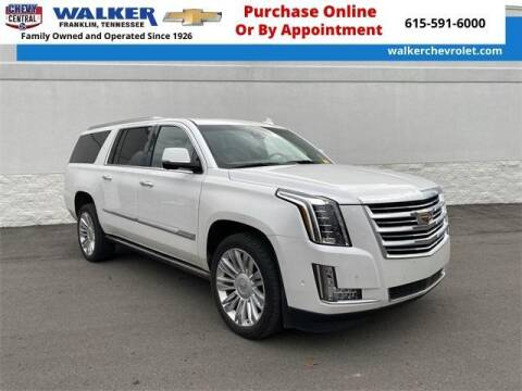 2020 Cadillac Escalade ESV for sale at WALKER CHEVROLET in Franklin TN