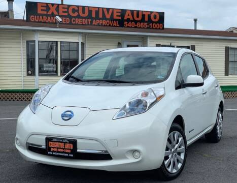 2013 Nissan LEAF for sale at Executive Auto in Winchester VA