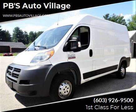 2015 RAM ProMaster Cargo for sale at PB'S Auto Village in Hampton Falls NH