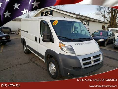 2014 RAM ProMaster Cargo for sale at D & D Auto Sales Of Onsted in Onsted   Brooklyn MI