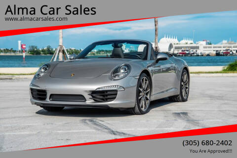 2013 Porsche 911 for sale at Alma Car Sales in Miami FL