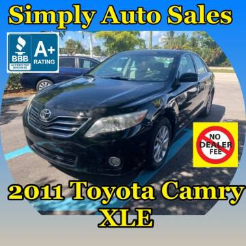 2011 Toyota Camry for sale at Simply Auto Sales in Palm Beach Gardens FL