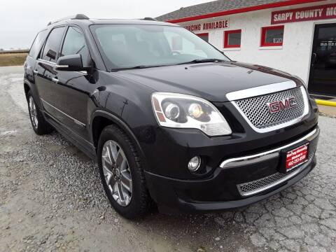2011 GMC Acadia for sale at Sarpy County Motors in Springfield NE