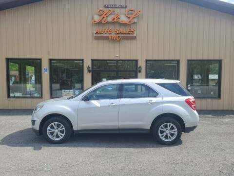 2017 Chevrolet Equinox for sale at K & L AUTO SALES, INC in Mill Hall PA