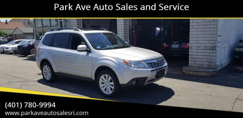 2011 Subaru Forester for sale at Park Ave Auto Sales and Service in Cranston RI