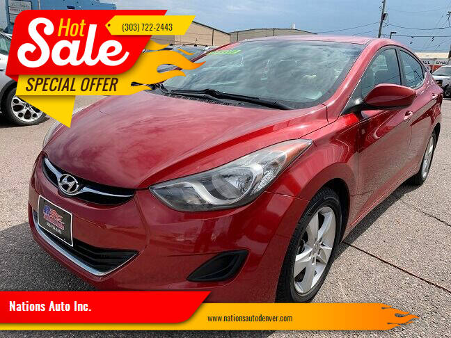 2013 Hyundai Elantra for sale at Nations Auto Inc. in Denver CO