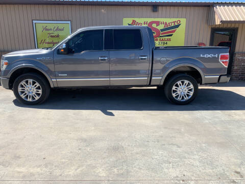 2014 Ford F-150 for sale at BIG 'S' AUTO & TRACTOR SALES in Blanchard OK
