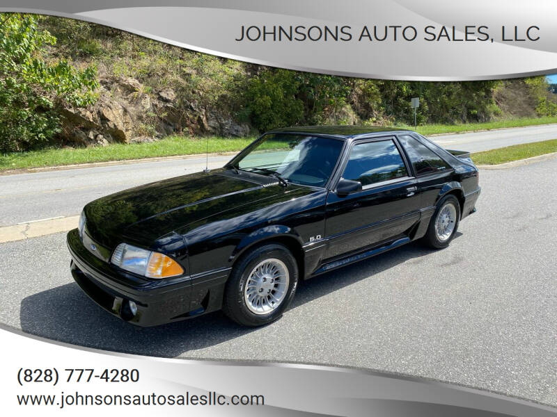 1988 Ford Mustang for sale at Johnsons Auto Sales, LLC in Marshall NC
