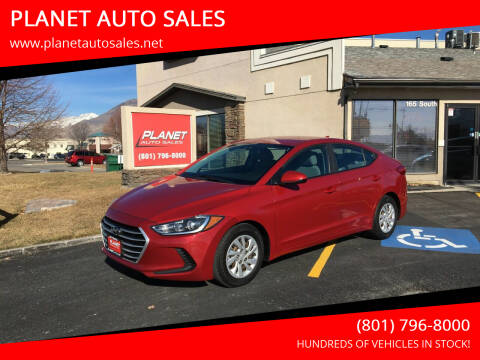 2017 Hyundai Elantra for sale at PLANET AUTO SALES in Lindon UT