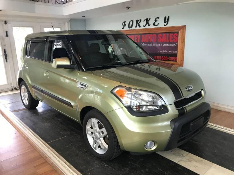 2010 Kia Soul for sale at Forkey Auto & Trailer Sales in La Fargeville NY