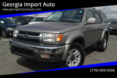 2002 Toyota 4Runner for sale at Georgia Import Auto in Alpharetta GA