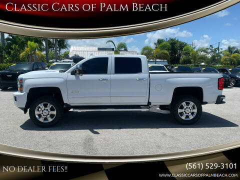 2018 Chevrolet Silverado 2500HD for sale at Classic Cars of Palm Beach in Jupiter FL