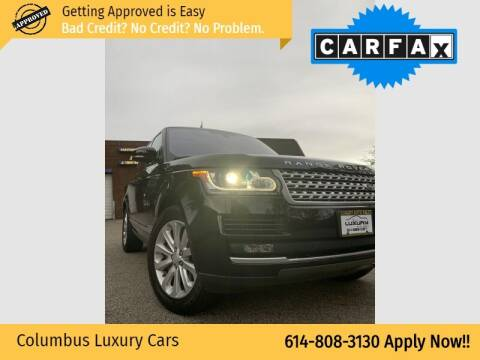 2016 Land Rover Range Rover for sale at Columbus Luxury Cars in Columbus OH