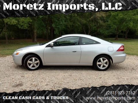2005 Honda Accord for sale at Moretz Imports, LLC in Spring TX