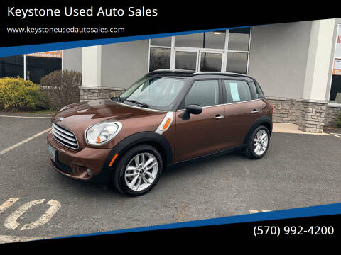 2013 MINI Countryman for sale at Keystone Used Auto Sales in Brodheadsville PA