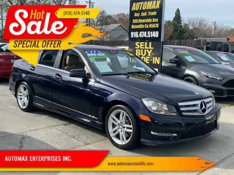 2013 Mercedes-Benz C-Class for sale at AUTOMAX ENTERPRISES INC. in Roseville CA