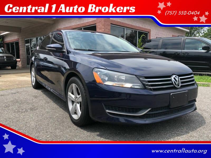 2012 Volkswagen Passat for sale at Central 1 Auto Brokers in Virginia Beach VA