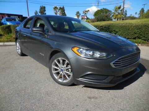 2017 Ford Fusion Hybrid for sale at ARAX AUTO SALES in Tujunga CA