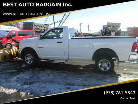 2013 RAM Ram Pickup 2500 for sale at BEST AUTO BARGAIN inc. in Lowell MA