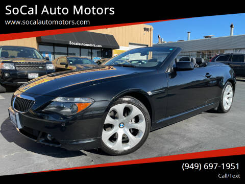 2004 BMW 6 Series for sale at SoCal Auto Motors in Costa Mesa CA