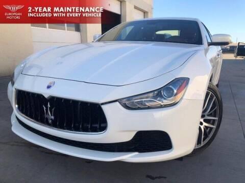 2016 Maserati Ghibli for sale at European Motors Inc in Plano TX