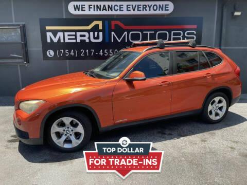 2014 BMW X1 for sale at Meru Motors in Hollywood FL