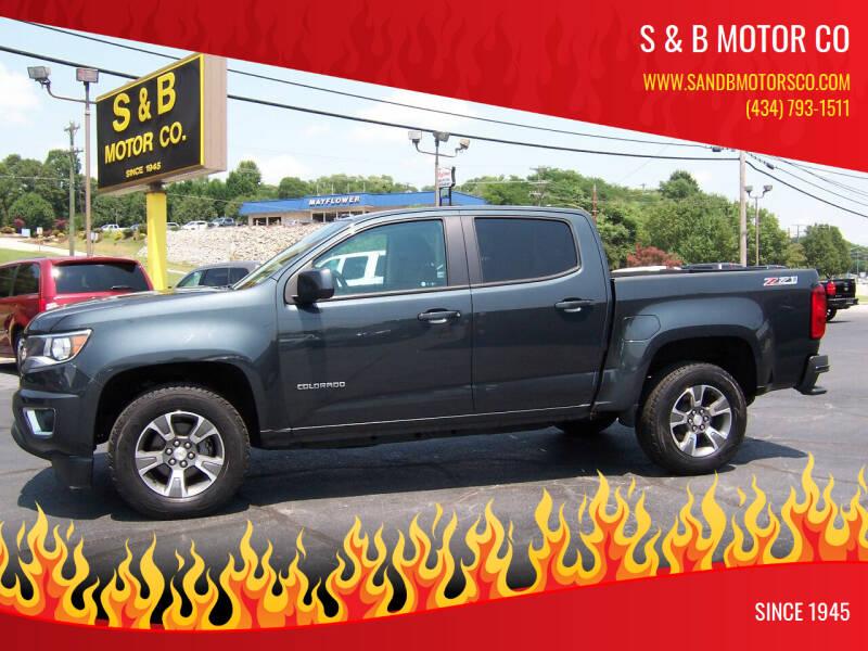2018 Chevrolet Colorado for sale at S & B MOTOR CO in Danville VA
